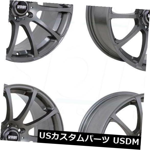 海外輸入ホイール 18x8.5 VMR V701 5x112 35ガンメタルホイールセールセット(4) 18x8.5 VMR V701 5x112 35 Gunmetal Wheels Sale Set(4)