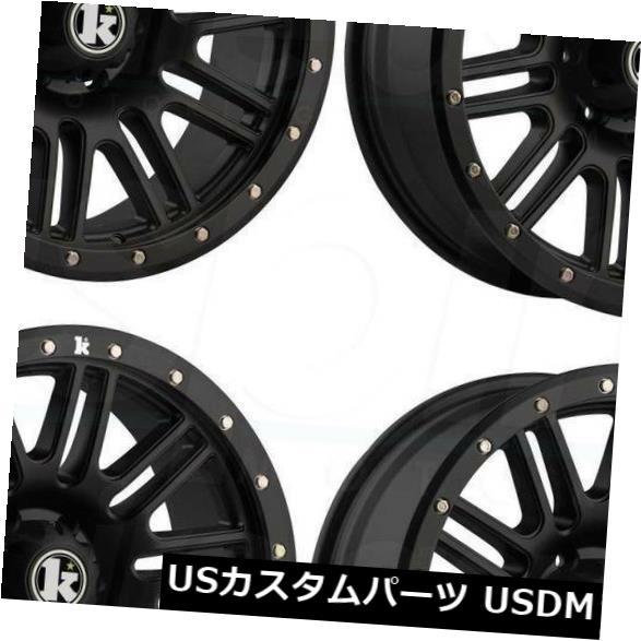海外輸入ホイール 18x9クラッチKT01 5x5 / 5x127 -12フラットブラックホイールリムセット(4) 18x9 Klutch KT01 5x5/5x127 -12 Flat Black Wheel Rim set(4)