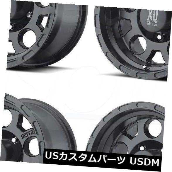 海外輸入ホイール 18x9 XD XD122 Enduro 6x5.5 6x139.7 0マットブラックホイールリムセット 4 18x9 XD XD122 Enduro 6x5.5 6x139.7 0 Matte Black Wheels Rims Set