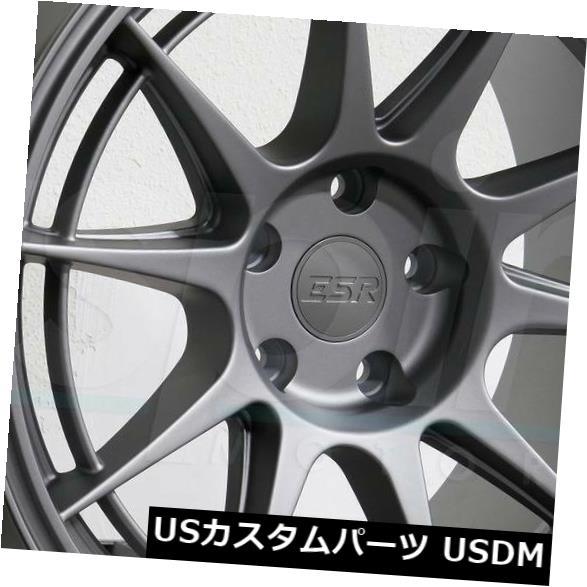有名ブランド 海外輸入ホイール 18x10.5 ESR Wheels SR13 5x120 22グレーホイールリムセット(4) 18x10.5 22 ESR SR13 SR13 5x120 22 Grey Wheels Rims Set(4), 剣淵町:dc4d437b --- ecommercesite.xyz