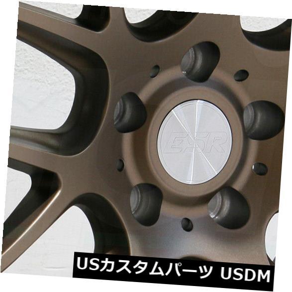 海外輸入ホイール 18x10.5 ESR SR12 5x120 22ブロンズホイールリムセット(4) 18x10.5 ESR SR12 5x120 22 Bronze Wheels Rims Set(4)