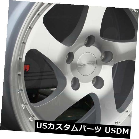 海外輸入ホイール 19x9.5 ESR SR02 SR2 5x114.3 22機械加工シルバーホイールリムセット(4) 19x9.5 ESR SR02 SR2 5x114.3 22 Machined Silver Wheels Rims Set(4)