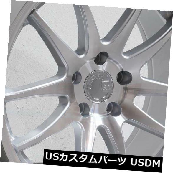 海外輸入ホイール 19x9.5 / 19x11 Aodhan DS02 DS2 5x112 15/22シルバー加工フェイスホイールリムセット(4) 19x9.5/19x11 Aodhan DS02 DS2 5x112 15/22 Silver Machined Face Wheels Rims Set(4)