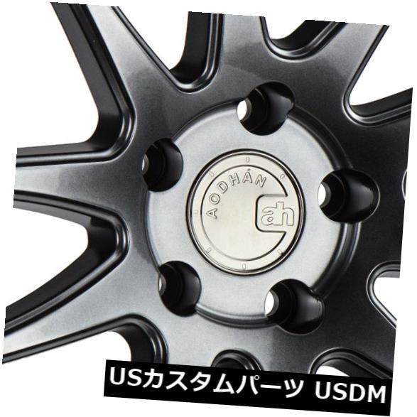 海外輸入ホイール 19x9.5 / 19x11 Aodhan DS02 DS2 5x120 15/15ハイパーブラックホイールリムセット(4) 19x9.5/19x11 Aodhan DS02 DS2 5x120 15/15 Hyper Black Wheels Rims Set(4)