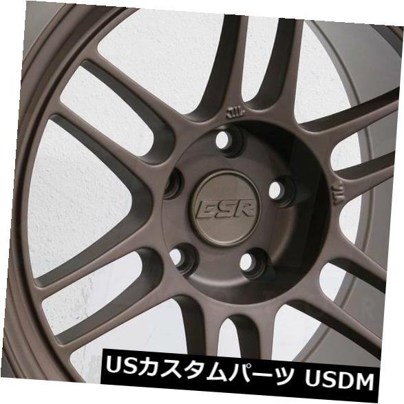 海外輸入ホイール 18x10.5 ESR SR11 5x112 22ブロンズホイールリムセット(4) 18x10.5 ESR SR11 5x112 22 Bronze Wheels Rims Set(4)