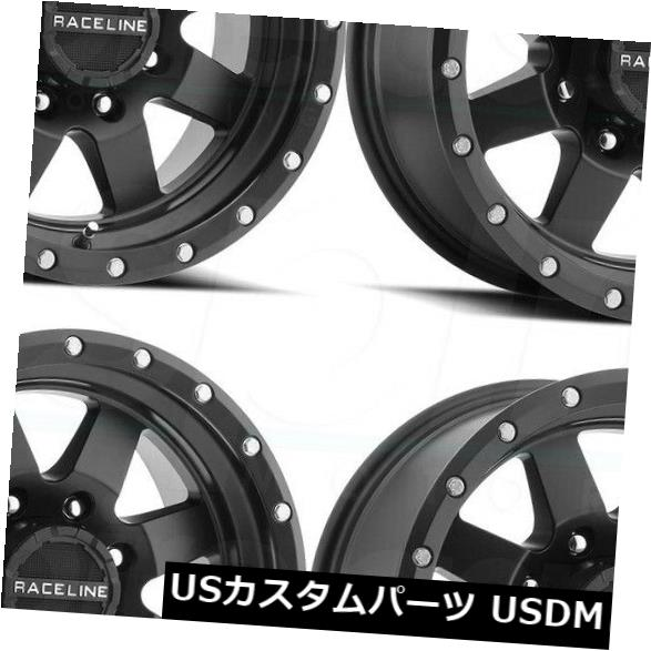 海外輸入ホイール 18x9 Raceline 935B Defender 8x170 -12ブラックホイールリムセット(4) 18x9 Raceline 935B Defender 8x170 -12 Black Wheels Rims Set(4)