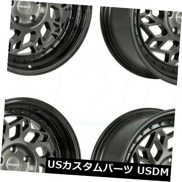 海外輸入ホイール 18x9.5 Regen5 R32 5x114.3 38スモークカーボンブラックホイールリムセット(4) 18x9.5 Regen5 R32 5x114.3 38 Smoked Carbon Black Wheels Rims Set(4)