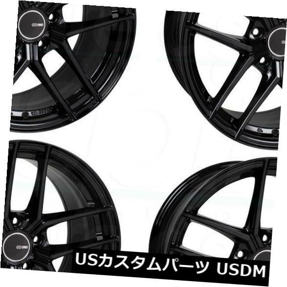 海外輸入ホイール 18x8.5 Enkei TY5 5x114.3 25グロスブラックホイールリムセット(4) 18x8.5 Enkei TY5 5x114.3 25 Gloss Black Wheels Rims Set(4)