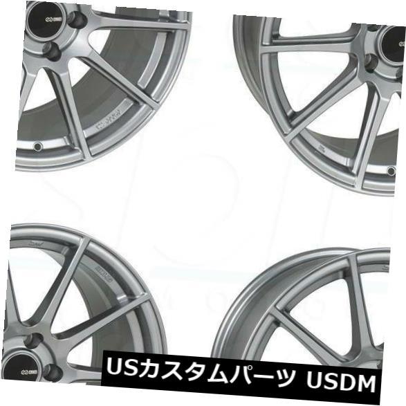 海外輸入ホイール 18x8.5 Enkei TS10 5x114.3 50 Storm Greyホイールリムセット(4) 18x8.5 Enkei TS10 5x114.3 50 Storm Grey Wheels Rims Set(4)