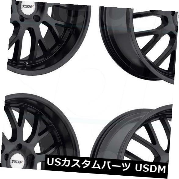 海外輸入ホイール 17x8 TSW Tremblant 5x114.3 40マットブラックホイールリムセット(4) 17x8 TSW Tremblant 5x114.3 40 Matte Black Wheels Rims Set(4)