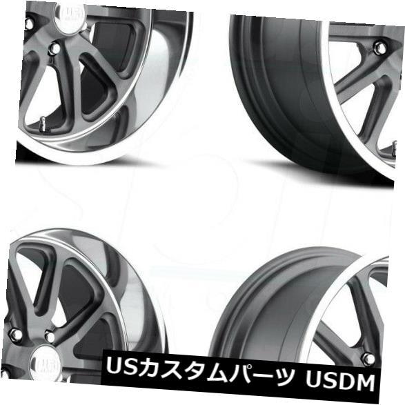 100 %品質保証 海外輸入ホイール 18x8 US Mags Rambler Rambler U111 5x4.75 GunMetal/ 5x120.6 Rambler 5 1 GunMetal Wheels Rims Set(4) 18x8 US Mags Rambler U111 5x4.75/5x120.65 1 GunMetal Wheels Rims Set(4), 雑貨屋shion:d3144c04 --- rednuncamais.online