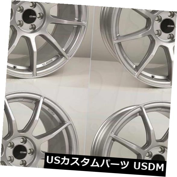 海外輸入ホイール 18x8 / 18x8.5 Enkei TS9 5x114.3 50/25シルバーペイントホイールリムセット(4) 18x8/18x8.5 Enkei TS9 5x114.3 50/25 Silver Paint Wheels Rims Set(4)