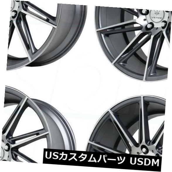 激安特価  海外輸入ホイール 19x8.5 Verde V25 Quantum Wheels 5x112 30グラファイト加工ホイールリムセット(4) Verde 19x8.5 Verde Set(4) V25 Quantum 5x112 30 Graphite Machined Wheels Rims Set(4), リフォーム資材 建材マルシェ:4a1bca1a --- lms.imergex.tech