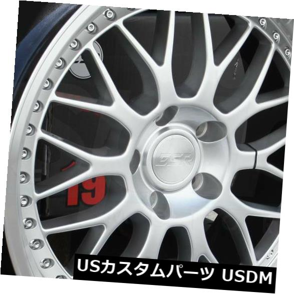海外輸入ホイール 19x8.5 / 19x9.5 ESR SR01 SR1 5x114.3 30/35ハイパーシルバーホイールリムセット(4) 19x8.5/19x9.5 ESR SR01 SR1 5x114.3 30/35 Hyper Silver Wheels Rims Set(4)