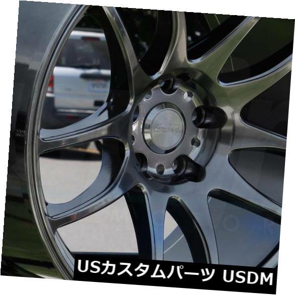 【送料込】 海外輸入ホイール 18x9.5 / 18x10.5 ESR SR08 SR8 5x120 15/15ハイパーブラックホイールリムセット(4) 18x9.5/18x10.5 ESR SR08 SR8 5x120 15/15 Hyper Black Wheels Rims Set(4), 栗山町 748e601b