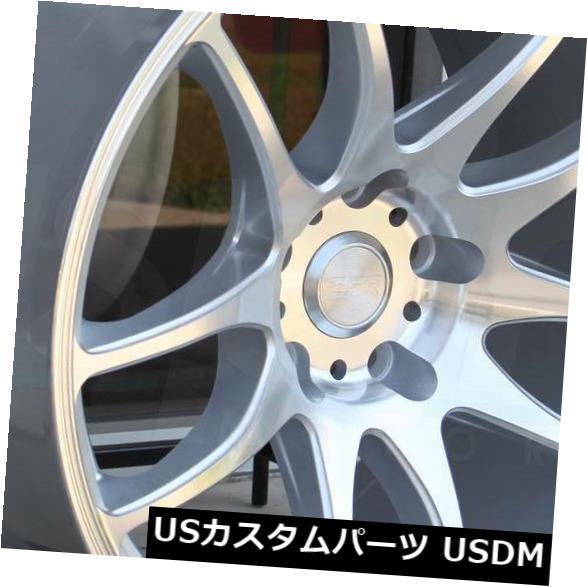 海外輸入ホイール 18x9.5 / 18x10.5 ESR SR08 SR8 5x112 22/22機械加工シルバーホイールリムセット(4) 18x9.5/18x10.5 ESR SR08 SR8 5x112 22/22 Machined Silver Wheels Rims Set(4)