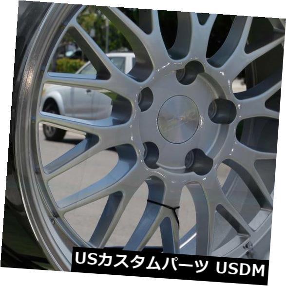 海外輸入ホイール 18x9.5 / 18x10.5 ESR SR05 SR5 5x112 22/22ハイパーシルバーホイールリムセット(4) 18x9.5/18x10.5 ESR SR05 SR5 5x112 22/22 Hyper Silver Wheels Rims Set(4)