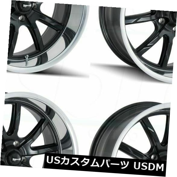 RIDLER 650 Wheel with GREY//POLISHED LIP 17 x 7. inches //5 x 120 mm, 0 mm Offset