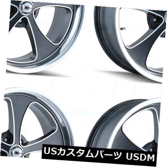 【激安】 海外輸入ホイール 20x8.5 Ridler Set(4) 645 5x5 Ridler/ 5x127 0 0ブラックポリッシュリップホイールリムセット(4) 20x8.5 Ridler 645 5x5/5x127 0 Black Polished Lip Wheels Rims Set(4), FLORA(フローラ):7ec546cc --- dibranet.com