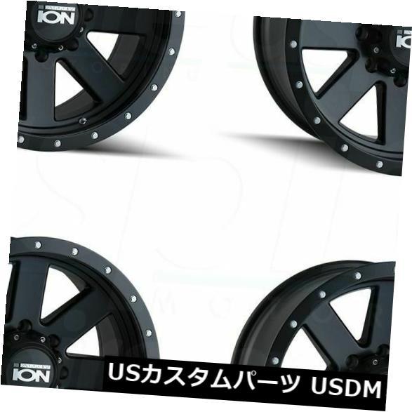 海外輸入ホイール 20x9イオン134 6x120 18マットブラックホイールリムセット(4) 20x9 Ion 134 6x120 18 Matte Black Wheels Rims Set(4)