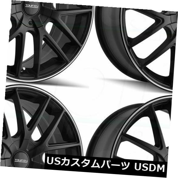 【クーポン対象外】 海外輸入ホイール 20x8.5 Touren TR60 5x110 / 5x115 40マットブラックマシンドリングホイールリムセット(4) 20x8.5 Touren TR60 5x110/5x115 40 Matte Black Machined Ring Wheels Rims Set(4), 【公式通販】エムズコレクション 79b284fa