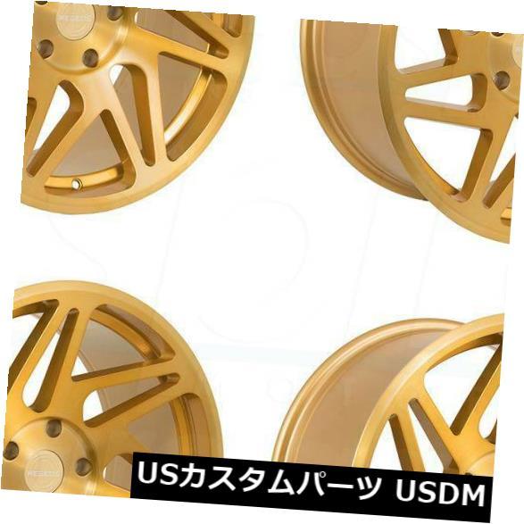 【後払い手数料無料】 海外輸入ホイール 18x8.5/ R31 18x9.5 Rims Regen5 R31 5x100 36/38ブラッシュドゴールドホイールリムセット(4)/ 18x8.5/18x9.5 Regen5 R31 5x100 36/38 Brushed Gold Wheels Rims Set(4), 近江町北形青果:283a230e --- ecommercesite.xyz