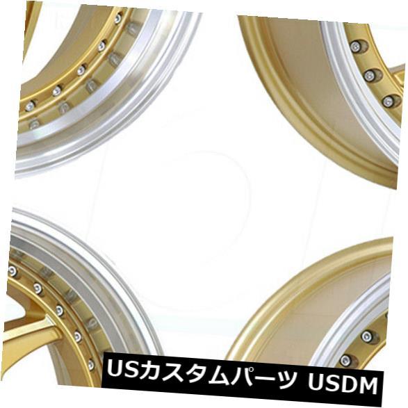【待望★】 海外輸入ホイール 18x8.5/ Rims 18x9.5 5x114.3 Regen5 R34 5x114.3 38/38ゴールドホイールリムセット(4) 38/38 18x8.5/18x9.5 Regen5 R34 5x114.3 38/38 Gold Wheels Rims Set(4), 京橋千疋屋:cdbfd469 --- anekdot.xyz