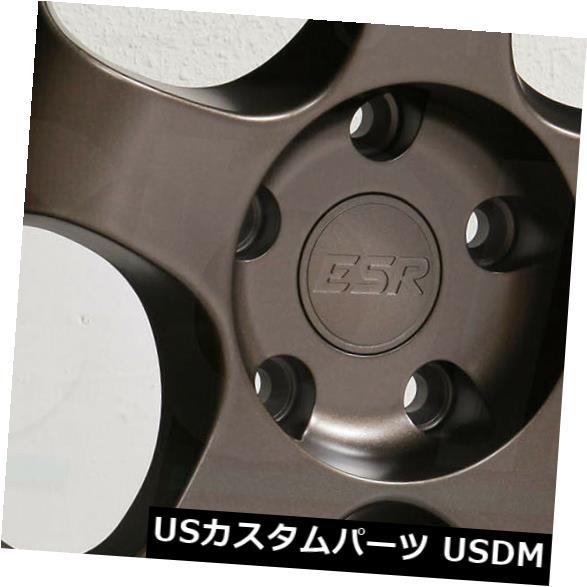 海外輸入ホイール 18x8.5 18x10.5 ESR SR06 SR6 5x120 30 22ブロンズホイールリムセット 4 18x8.5 18x10.5 ESR SR06 SR6 5x120 30 22 Bronze Wheels Rims Set 4