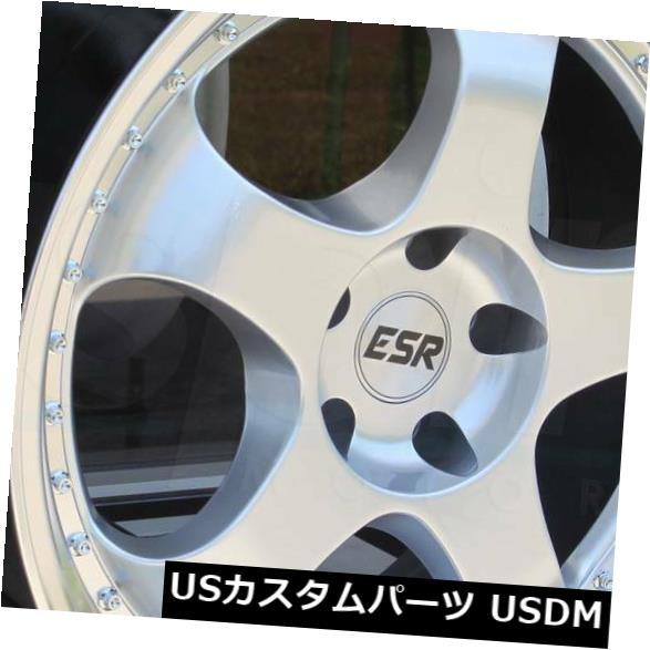 【即納!最大半額!】 海外輸入ホイール 18x8.5 / 18x10.5 ESR SR06 SR6 5x112 30/22ハイパーシルバーホイールリムセット(4) 18x8.5/18x10.5 ESR SR06 SR6 5x112 30/22 Hyper Silver Wheels Rims Set(4), スマホ 手帳型 ケースShop ENYU 94145791
