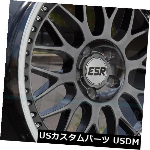 【セール】 海外輸入ホイール 19x8.5 ESR SR01 SR1 5x114.3 30ガンメタルホイールリムセット(4) 19x8.5 ESR SR01 SR1 5x114.3 30 Gun Metal Wheels Rims Set(4), イワミグン 5b948621
