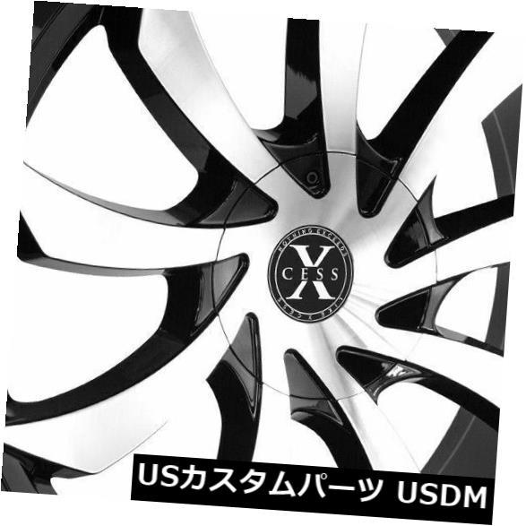 【送料無料/即納】  海外輸入ホイール 22x9 Rims Xcess Xcess X01 5x114.3/ 5x120 22x9 35ブラックマシンホイールリムセット(4) 22x9 Xcess X01 5x114.3/5x120 35 Black Machine Wheels Rims Set(4), HIC:dc3f39bb --- mail.durand-il.com