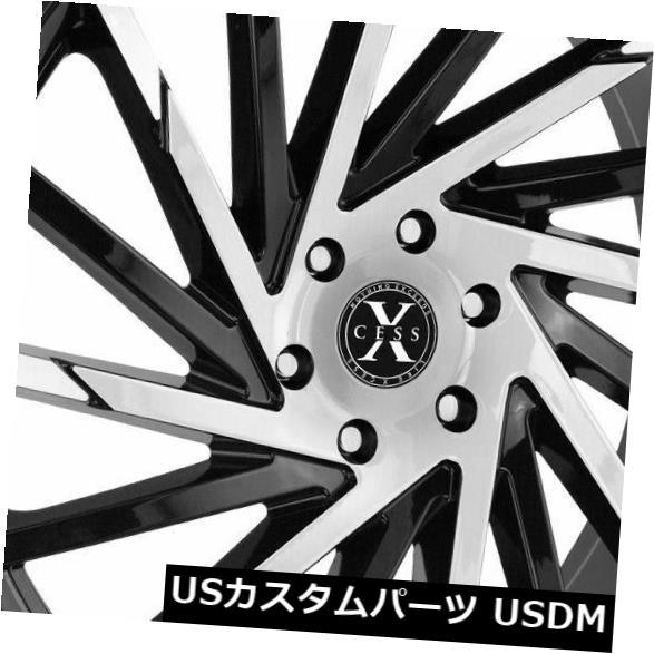 【海外限定】 海外輸入ホイール X02 22x9 Xcess X02 5x114.3 Set(4) 35ブラックマシンホイールリムセット(4) 22x9 Xcess Machine X02 5x114.3 35 Black Machine Wheels Rims Set(4), Phoenix通販:a100f930 --- mail.durand-il.com