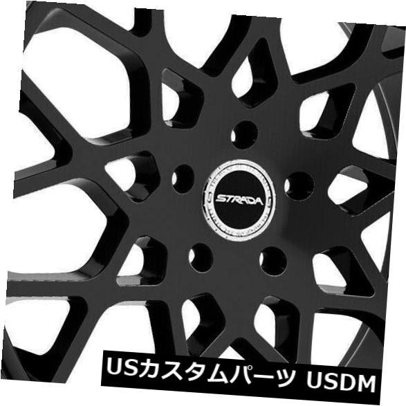 豪奢な 海外輸入ホイール Buca 22x9.5 Strada Set(4) Wheels S59 Buca 6x5.5/ 6x139.7 24ブラックホイールリムセット(4) 22x9.5 Strada S59 Buca 6x5.5/6x139.7 24 Black Wheels Rims Set(4), blancdejuillet ブランドジュリエ:3171ac6b --- 14mmk.com
