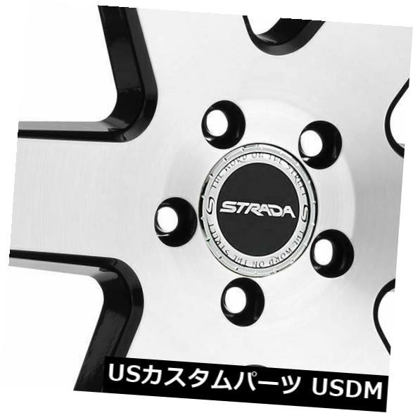 新品本物 海外輸入ホイール 22x9.5 22x9.5 Strada S60 Coda 5x120 25ブラックマシンホイールリムセット(4) 22x9.5 S60 Strada Rims S60 Coda 5x120 25 Black Machine Wheels Rims Set(4), chama_cha:c5dcc57b --- 14mmk.com