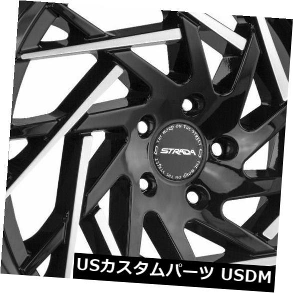直営店に限定 海外輸入ホイール 22x9 22x9 Strada Rims Strada S64 Nido 5x115 15ブラックマシンチップホイールリムセット(4) 22x9 Strada S64 Nido 5x115 15 Black Machine Tips Wheels Rims Set(4), 美浜町:f2bf4229 --- 14mmk.com