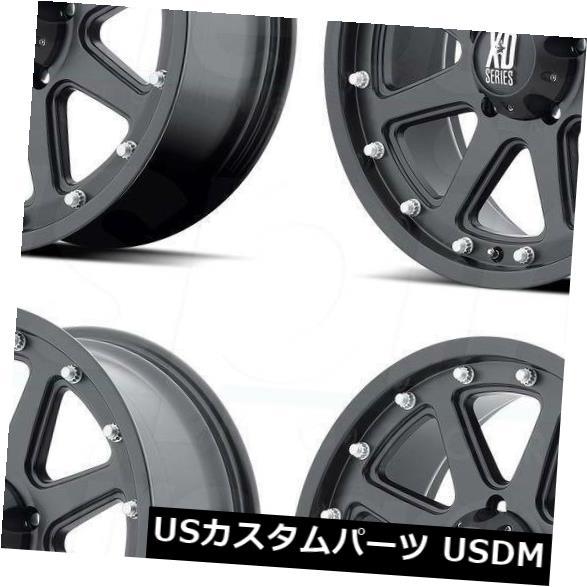 【爆売りセール開催中!】 海外輸入ホイール 17x9 XD798 XD XD798アディクト8x6.5/ 8x165.1 Set(4) -12マットブラックホイールリムセット(4) Black 17x9 XD XD798 Addict 8x6.5/8x165.1 -12 Matte Black Wheels Rims Set(4), イーライン:c032f99e --- booking.thewebsite.tech