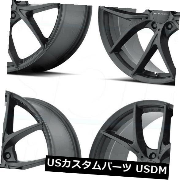 【ラッピング不可】 海外輸入ホイール Rims 20x8.5 KMC KM694ウィッシュボーン5x114.3 KMC/ 5x4.5 KMC 38サテンブラックホイールリムセット(4) 20x8.5 KMC KM694 Wishbone 5x114.3/5x4.5 38 Satin Black Wheels Rims Set(4), 石川県:6a3d5311 --- booking.thewebsite.tech