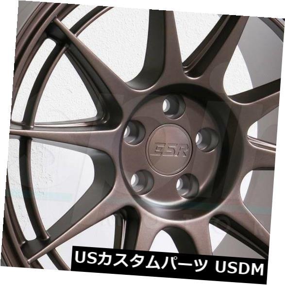 【お買い得!】 海外輸入ホイール Set(4) 18x8.5/ 18x9.5 ESR SR13 5x112 30/35 30//35ブロンズホイールリムセット(4) 18x8.5/18x9.5 ESR SR13 5x112 30/35 Bronze Wheels Rims Set(4), SPEED ADDICT:4f190fa0 --- pwucovidtrace.com