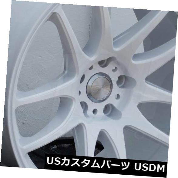 【売れ筋】 海外輸入ホイール ESR 18x8.5/ 18x9.5 Wheels ESR New SR08 SR8 5x120 30/35ホワイトホイールの新しいセット(4) 18x8.5/18x9.5 ESR SR08 SR8 5x120 30/35 White Wheels New Set(4), 静内郡:ad217b8f --- avpwingsandwheels.com