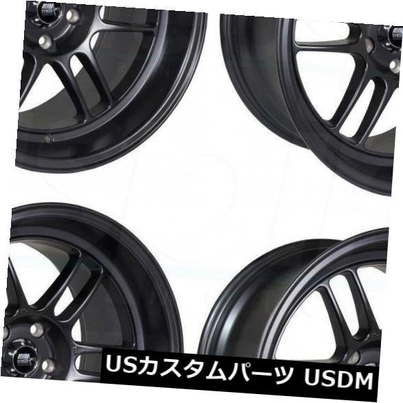 『1年保証』 海外輸入ホイール Matte 18x9.5 18x9.5/ 18x11 MST鈴鹿5x120 Suzuka 12/10マットブラックホイールリムセット(4) 18x9.5/18x11 MST Suzuka 5x120 12/10 Matte Black Wheels Rims Set(4), 食器&美容雑貨のボンドストリート:aed9fec1 --- unifiedlegend.com