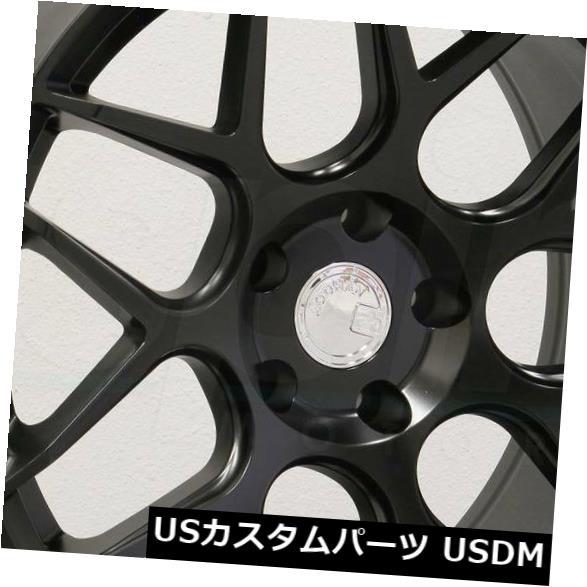 海外輸入ホイール 19x8.5 / 19x9.5 Aodhan LS002 LS2 5x108 35/35マットブラックホイールリムセット(4) 19x8.5/19x9.5 Aodhan LS002 LS2 5x108 35/35 Matte Black Wheels Rims Set(4)
