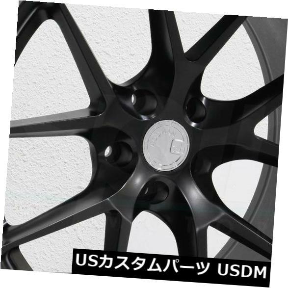 海外輸入ホイール 19x8.5 Aodhan LS007 LS7 5x112 35マットブラックホイールリムセット(4) 19x8.5 Aodhan LS007 LS7 5x112 35 Matte Black Wheels Rims Set(4)