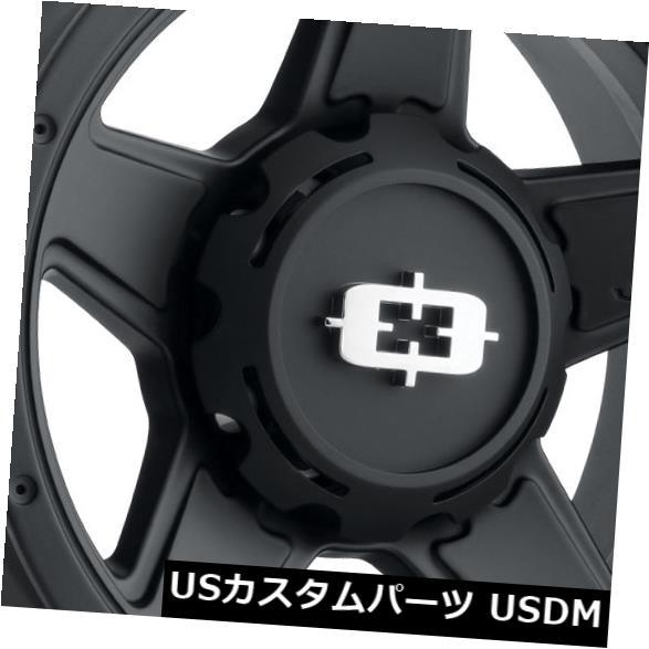 海外輸入ホイール 20x9 Vision 390 Empire 8x170 12サテンブラックホイールリムセット(4) 20x9 Vision 390 Empire 8x170 12 Satin Black Wheels Rims Set(4)