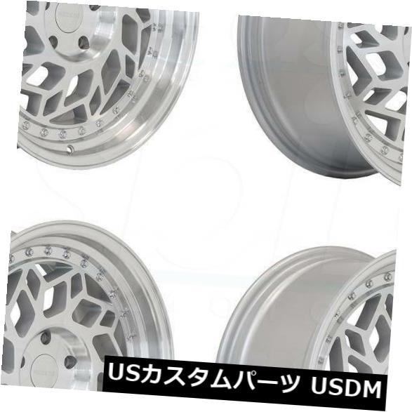 【最新入荷】 海外輸入ホイール 18x8.5 Regen5 R32 5x112 40マシンシルバーポリッシュホイールリムセット(4) 18x8.5 Regen5 R32 5x112 40 Machine Silver Polish Wheels Rims Set(4), アウトレットショップ大蔵屋 70b3b464