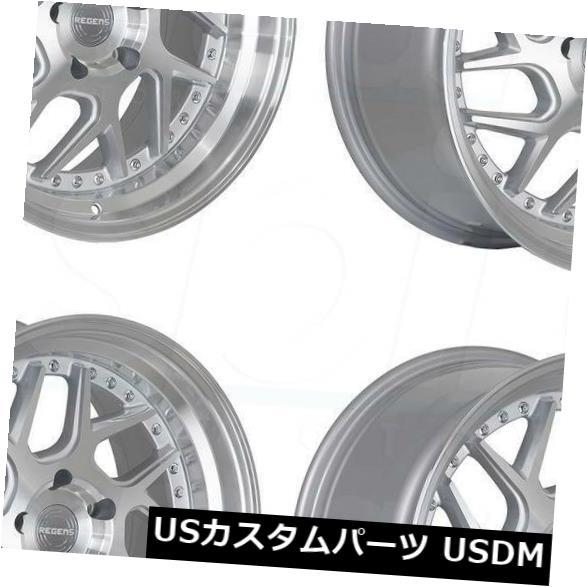 一流の品質 海外輸入ホイール 18x8.5 Regen5 R33 5x120 35マシンシルバーポリッシュホイールリムセット(4) 18x8.5 Regen5 R33 5x120 35 Machine Silver Polish Wheels Rims Set(4), サオリチョウ 5f60f08d