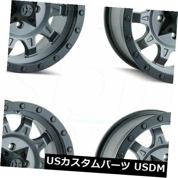新しい 海外輸入ホイール 18x9ダーティライフロードキル5x150 Set(4) 0マットガンメタルホイールリムセット(4) 18x9 Gunmetal Dirty Life Matte Roadkill 5x150 0 Matte Gunmetal Wheels Rims Set(4), Car Parts Shop MM:034cb000 --- lms.imergex.tech