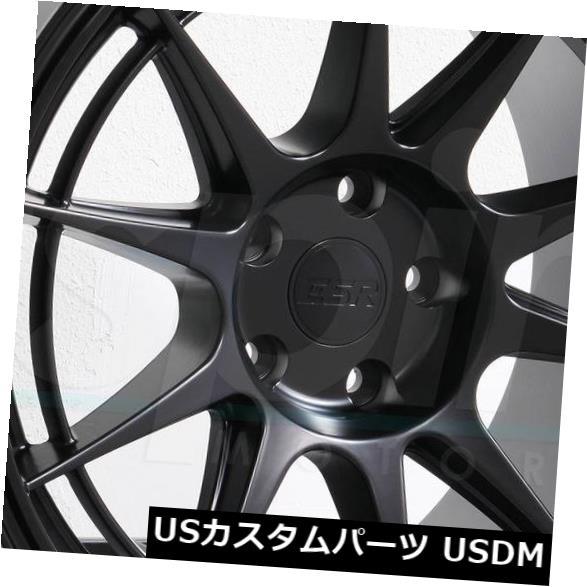 経典ブランド 海外輸入ホイール 18x9.5/ 18x10.5 ESR SR13 Rims 5x114.3 15 Wheels/22マットブラックホイールリムセット(4) ESR 18x9.5/18x10.5 ESR SR13 5x114.3 15/22 Matte Black Wheels Rims Set(4), cute angel:3be46fae --- avpwingsandwheels.com