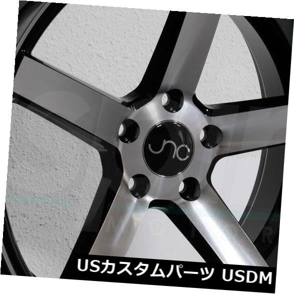 使い勝手の良い 海外輸入ホイール 026 Black 19x9.5 JNC 026 JNC026 JNC026 5x114.3 40ブラックマシンフェイスホイールリムセット(4) 19x9.5 JNC 026 JNC026 5x114.3 40 Black Machine Face Wheel Rims set(4), カシマダイマチ:80848430 --- sap-latam.com