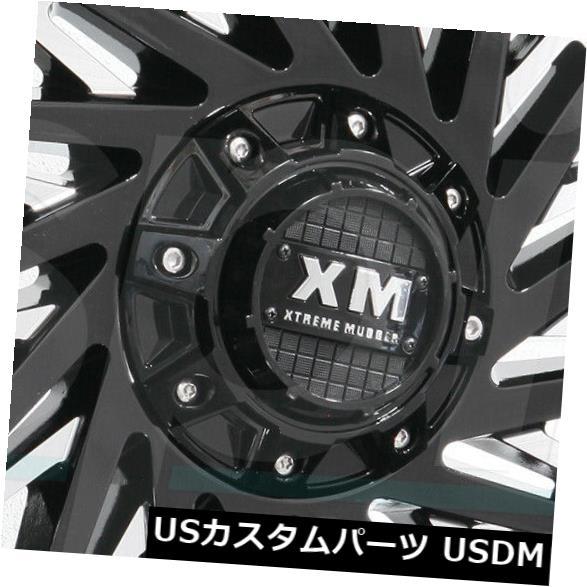 【国際ブランド】 海外輸入ホイール 20x9 Xtreme Mudder 8x180 XM330 8x180 Wheels 0グロスブラックミルドホイールリムセット(4) 0 20x9 Xtreme Mudder XM330 8x180 0 Gloss Black Milled Wheels Rims Set(4), モチヅキマチ:d8332499 --- booking.thewebsite.tech