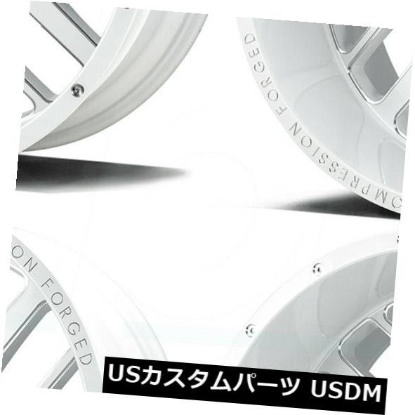 再再販! 海外輸入ホイール 22x12 AX AX2.3 6x135 -44/ 6x5.5 -44グロスホワイトミルドホイールリムセット(4) AX 22x12 AXE AXE AX2.3 6x135/6x5.5 -44 Gloss White Milled Wheels Rims Set(4), 黒部市:0898a02f --- greencard.progsite.com